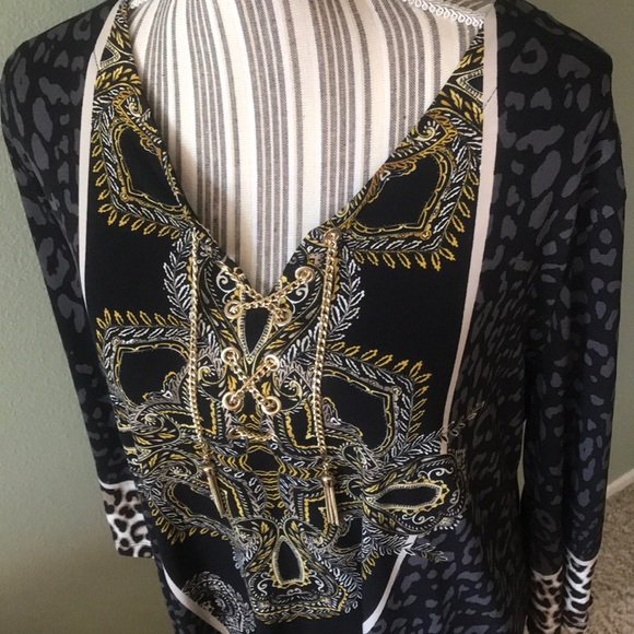 JM Collection Tops - NWT Macy's JM Collection, stunning tunic, leopard